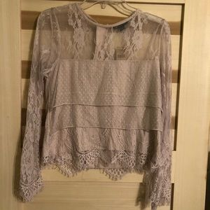 Long sleeve American Eagle lace top.
